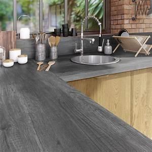 Protege Plan De Travail : plan de travail stratifi planky noir mat x cm ~ Premium-room.com Idées de Décoration