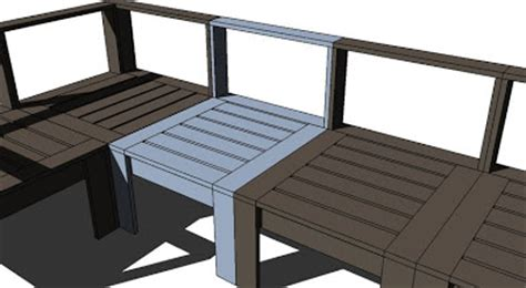 pdf diy outdoor wood sectional furniture plans