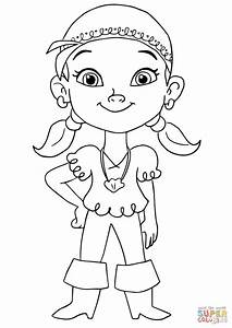 Jake And The Neverland Pirates Izzy - Free Colouring Pages