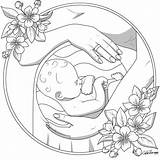 Coloring Drawing Colouring Pregnancy Therapy Aucune Disponible Fairy Couple Natalie Mandala sketch template
