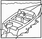 Coloring Boat Speed Printable Ecoloringpage sketch template