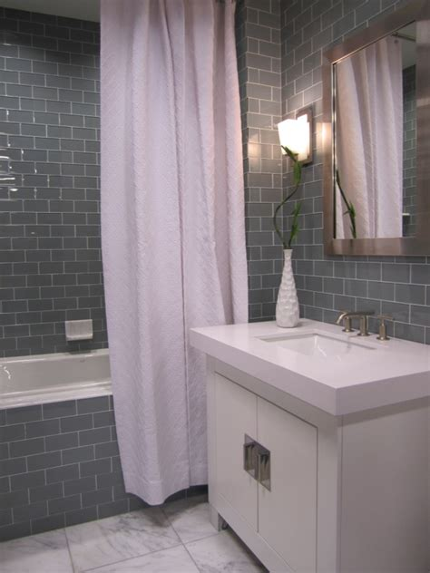 grey subway tile shower gray subway tile bathroom design ideas