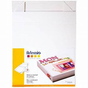 Boite En Carton À Décorer : bo te en carton d corer 32 x 32 x 6 cm pour scrapbooking boite en carton d corer creavea ~ Melissatoandfro.com Idées de Décoration