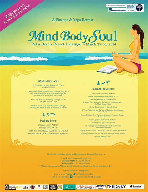 Последние твиты от mind body soul retreats (@bodyretreats). Mind Body Soul: A Finance & Yoga Retreat in Batangas ...