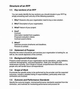 sample rfp template 8 free documents in pdf word With 3pl rfp template