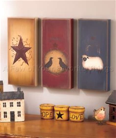 3pc primitive star country wall art set americana living