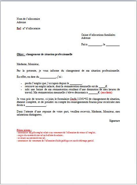 Modification De Declaration by Modele Lettre Modification Impots