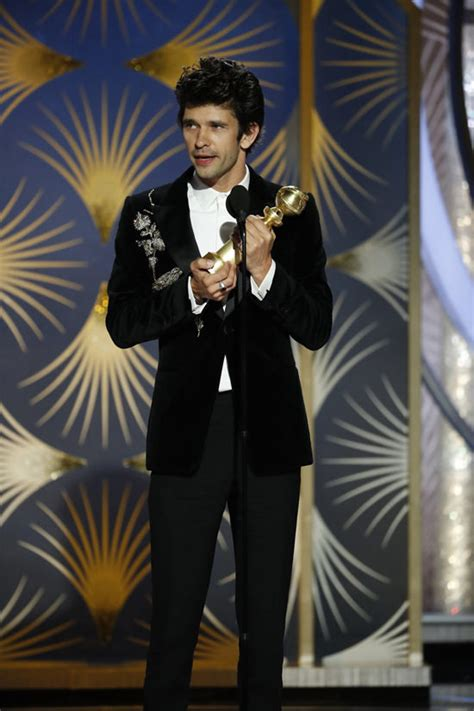 Golden Globes Ben Whishaw Alexander Mcqueen Tom