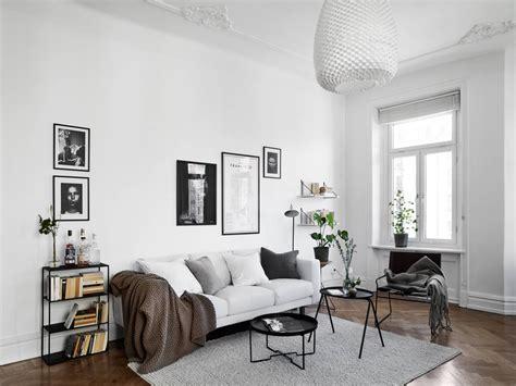 scandinavian livingroom black and white scandinavian living room living room