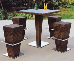 Rattan Bar Set : china modern design outdoor rattan bar furniture include bar stool and table photos pictures ~ Indierocktalk.com Haus und Dekorationen