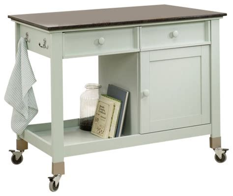 Rolling Island Counter, Rainwater   Kitchen Islands And