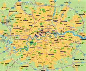 Printable Tourist Map of London England