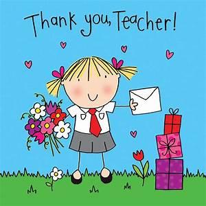 Thank you Teacher Card - Crystals