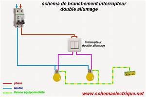 Branchement Electrique Volet Roulant Sur Prise De Courant : sch ma lectrique interrupteur double allumage ~ Dailycaller-alerts.com Idées de Décoration