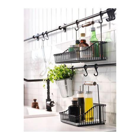 barre de rangement cuisine fintorp panier en fil avec poignée ikea cuisine paniers en fil ikea et poignée