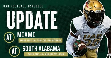 GAME PREVIEW: UAB at Miami (FL) - The College Sports Journal