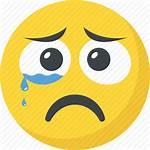 Sad Face Crying Icon Emoji Unhappy Emoticon