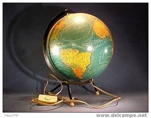 Lampe Globe Terrestre : mappemonde globe terrestre lumineux g ographie terre lampe ~ Teatrodelosmanantiales.com Idées de Décoration