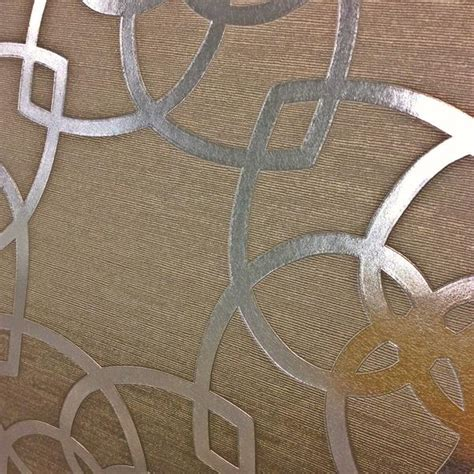 muriva wallpaper precious silk art deco silvergold