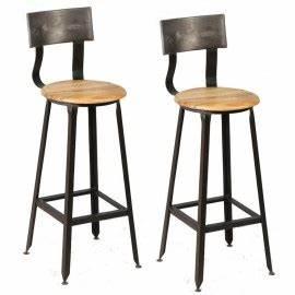 Tabouret De Bar Promo : chaise de bar bois et metal cuisine en image ~ Melissatoandfro.com Idées de Décoration