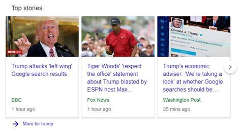 google news  donald trump bias  googles algorithms