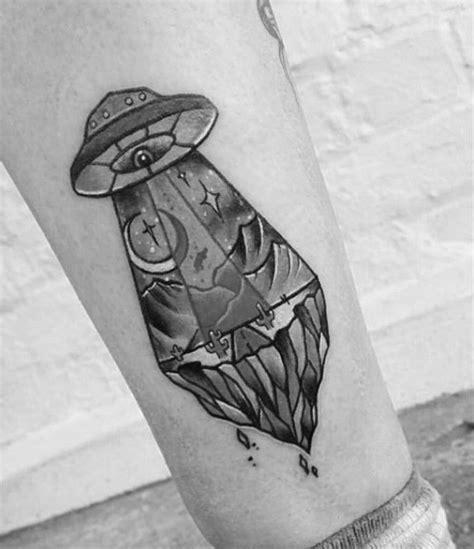 ufo tattoo designs  men alien abduction ink