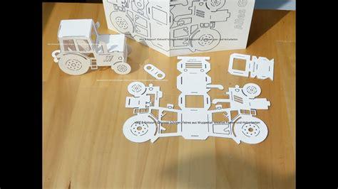 Post a comment for bastelnbögen gratis : Papier Traktor Grußkarte & Bastelbogen - YouTube