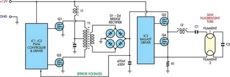 Flourescent Lamp Inverter Circuit Diagram