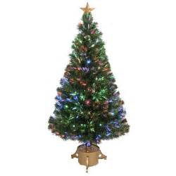 fiber optic 4 green artificial christmas tree with led muticolor light with stand wayfair