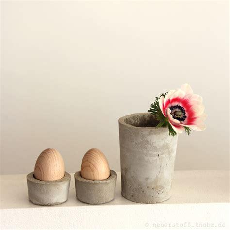 eierbecher aus beton diy anleitung handmade kultur