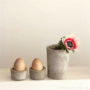 Basteln Mit Beton Anleitung : eierbecher aus beton diy anleitung handmade kultur ~ Lizthompson.info Haus und Dekorationen