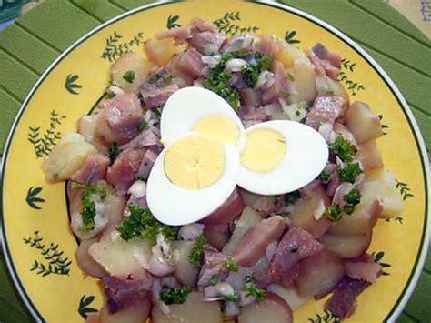 recette de salade de pommes de terre aux harengs fum 233 s