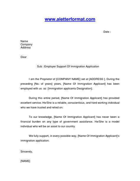 immigration letter sample google search immigration