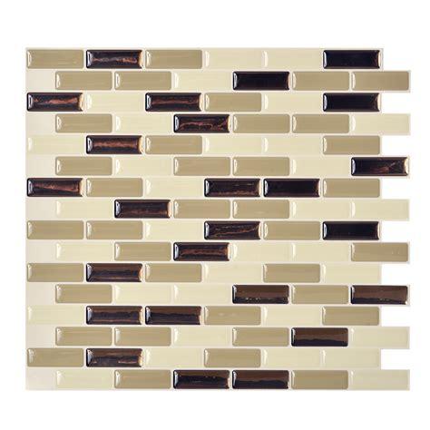 shop smart tiles 6 pack beige linear mosaic composite
