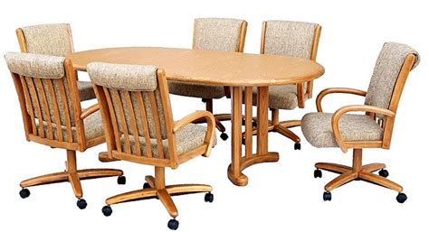 Chromcraft Furniture T81777 And C177936 Swivel Wood Dining