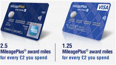 united mileageplus miles  uk credit card