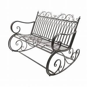 Banc De Jardin Fer Forgé : banc de jardin bascule fer forg brun banc de jardin ~ Dailycaller-alerts.com Idées de Décoration