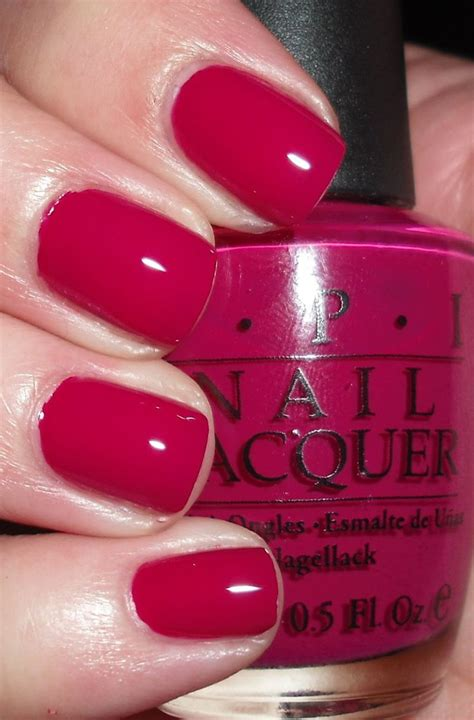 opi miami beet nail polish color manicure red berry