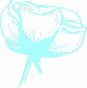 Light Blue Flower Blossom Clip Art at Clker.com - vector ...