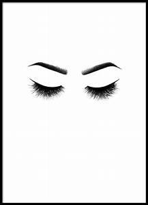 Mond Berechnen : kokettes schwarz wei poster mit wimpern bei desenio ~ Themetempest.com Abrechnung