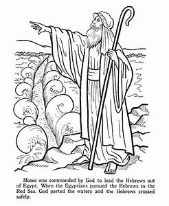 Moses Parting The Red Sea Coloring Page - AZ Coloring Pages