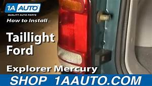 How To Replace Tail Light 98-01 Ford Explorer