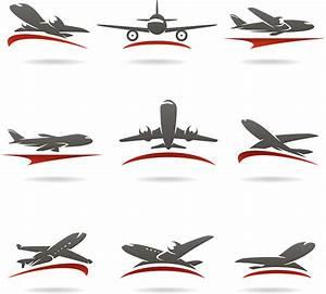 Desain Logo Pesawat-vektor Icon-vektor Gratis Download Gratis