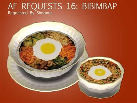 Mod The Sims Af Requests 16 Bibimbap Bibimbap Game