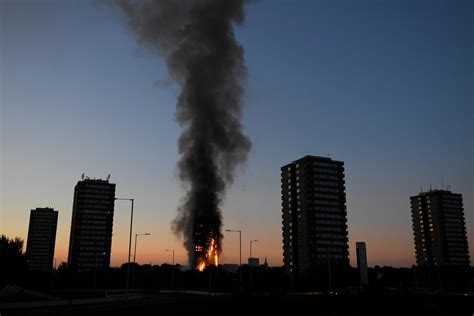 grenfell fire pensioner  heart attack  returning