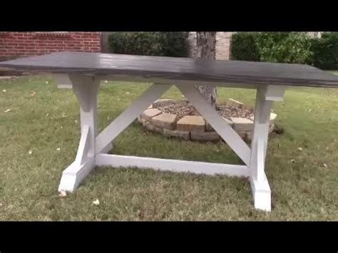 diy farmhouse harvest table part  youtube