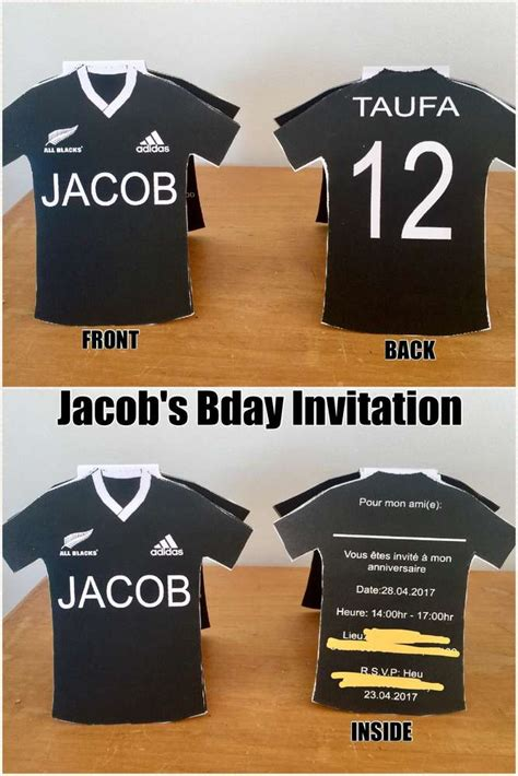 rugby  blacks football birthday party ideas photo
