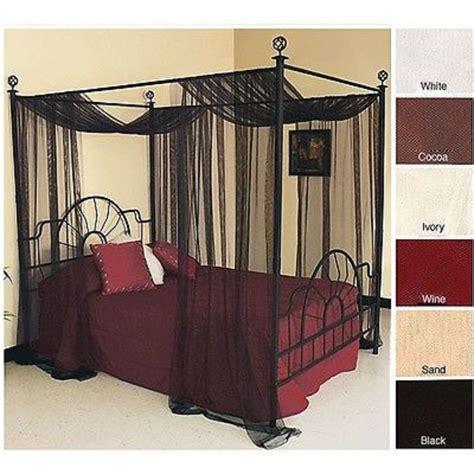 canopy bed panel drape curtain sheer cover net netting