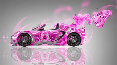 Lotus Elise Side Fantasy Flowers Butterfly Car 2014 | el Tony