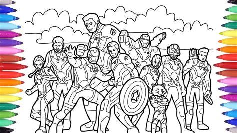 kid marvel avengers endgame coloring  avengers